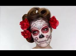 easy sugar skull day of the dead makeup tutorial for you