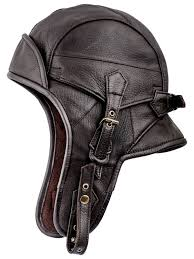 sterkowski genuine leather men s 8 aviator helmet trapper cap at men s clothing