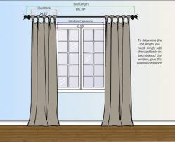 ideas of amazing curtains what size curtain rod do i need ideas diy bay that good