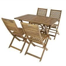 4 seater wooden garden furniture set
