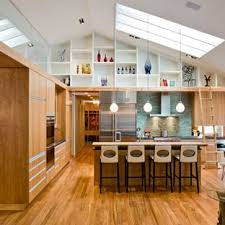 high ceiling kitchen design