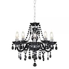 marie therese chandelier black 5 arm