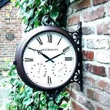 outdoor clocks indoor clock thermometer combo wall digital large outdoor clocks