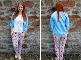 Patterned Joggers Extraordinary G Is For Gingers Patterned Joggers And A Denim Shirt