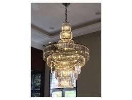 ch24 8 tier long crystal rod chandelier