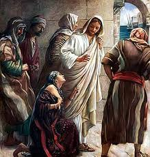 Image result for picture of jesus giving phoenician woman daughter