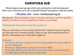 Christian Aid Quotes Best of Revision Guide Edexcel GCSE Religious Studies Ppt Video Online