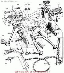 Honda cb77 super hawk 1961 usa main stand step bar schematic honda cb77 super hawk 1961