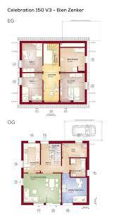 Grundriss Einfamilienhaus Moderner Landhausstil 6 Zimmer 150 Qm