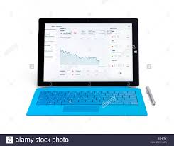 Bing Stock Chart Microsoft Surface Pro 3 Tablet Computer With Dow Stock