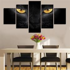 5 panels hd printed animal black panther eyes wall art painting canvas print room decor print poster picture canvas p0533 vendor on black panther animal wall art with  5 panels hd printed animal black panther eyes wall art painting