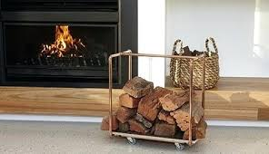 fireplace firewood rack wood holder for inside copper hampshire