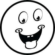 emoji coloring pages black and white smiley face printable laughing