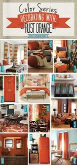 color series decorating with rust orange