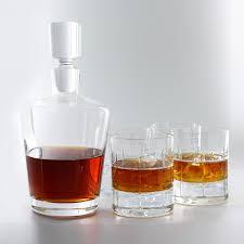 whiskey decanter set preparing zoom