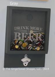 Decorated Bottle Caps Drink more BEERBottle Cap HolderBottle OpenerBeer DecorBar 36