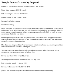 Technical Proposal Templates Product Marketing Proposal Sample