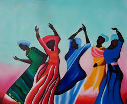 african american black art freedom dance oil painting