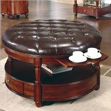 round fabric coffee table classic and vintage round tufted ottoman coffee table with black in new