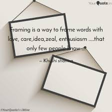 framing way frame words love care idea zeal