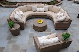 Curved Outdoor Furniture Chic And Creative Curved Patio Furniture Outdoor Patio Furniture Sectionals