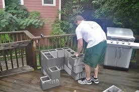 build concrete block outdoor kitchen designs