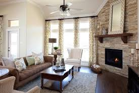 fireplace furniture arrangement. K. Houvanian Homes Via Houzz - Corner Fireplace Furniture Arrangement F
