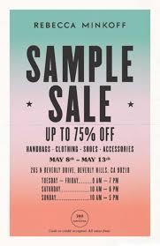 Sample Of Flyer Rebecca Minkoff Sample Sale Flyer Warehousesales Com