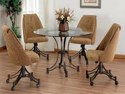 stylish idea dining room chairs with casters 35