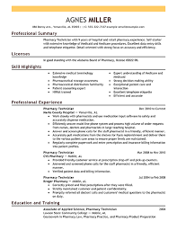 Best Pharmacy Technician Resume Example From Professional Resume