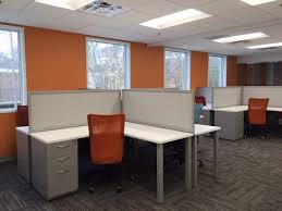 office pod furniture. Perfect Pod 4 Person Pod With Lshaped Desks Office Furniture Boston MA And Office Pod Furniture