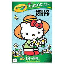 She cooks cookies to perfection, loves to collect cute things, and has a preference for english language, music and art. Crayola Giant Coloring Pages Featuring Hello Kitty 18 Count Walmart Com Walmart Com