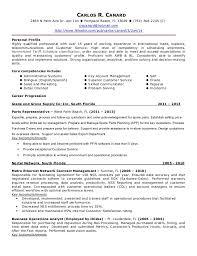 Import Resume Sample