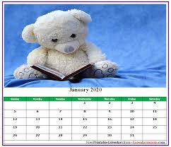 Cute 2020 Monthly Calendar Template
