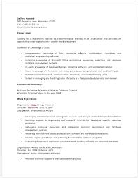 Bioinformatics Resume Bioinformatics Analyst Resume Resume Resume Search Free
