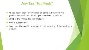 "day english ppt  8 amy tan ""two kinds"""