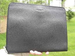 coach leather business tech portfolio case f64561 retails for