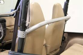 rock hard 4x4 8482 straight across front harness bar for jeep wrangler tj and unlimited lj 1997 2006