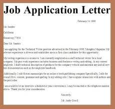 Fascinating Business Letter Job Application Example Survivalbooks