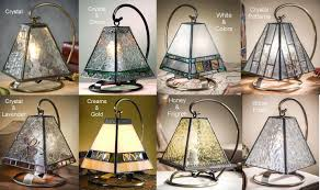 small mission style tiffany accent lamps 8 colors
