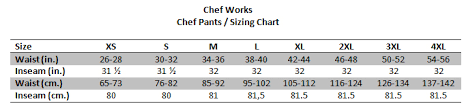 Chef Works Pants Size Chart Chef Works Bsol Nvy Ultralux Better Built Baggy Pants Navy
