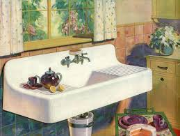 vintage porcelain kitchen sink with drainboard antique sinks for