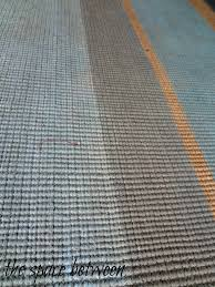 striped painted rug