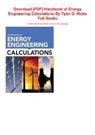Engineering Design Handbook Pdf Download Pdf Handbook Of Energy Engineering Calculations