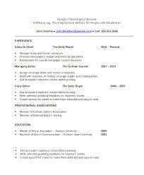 Chronological Order Resume Template Simple Reverse Chronological Order Resume Template Reverse 15