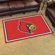 louisville cardinals 4x6 area rug