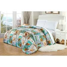 moose comforter set did 1 piece blue brown green fox bear moose comforter twin hunting the moose comforter
