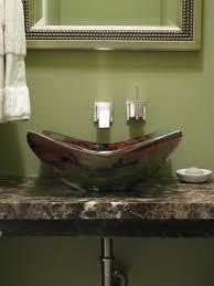 vessel sink in powder bath