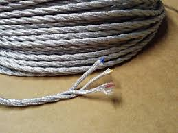 fabric lighting cable 3 core. 100 Meters Gray 3 Core Vintage Textile Electrical Wire Lamp Cord Braided Fabric Lighting Cable