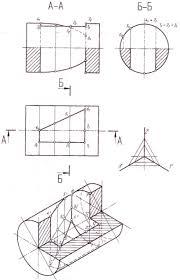 УГНТУ Начертательная геометрия Сфера с отверстием